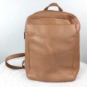 HOBO International Tan Leather Backpack Purse